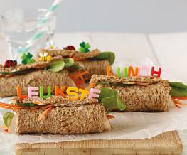 Kinderwraps van brood