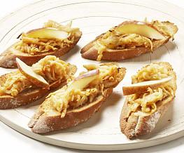 Crostini met appel en kaneel