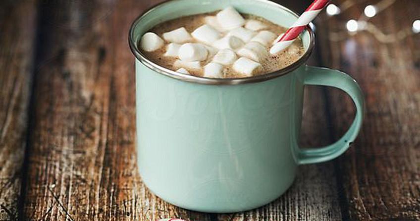 Kerstkoffie- met marshmallows